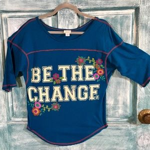 Live Happy/Natural Life Tee/Be the Change/S